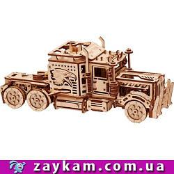 Биг риг 00015 - деревянный 3D пазл Wood trick (механический деревянный конструктор)