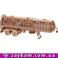 Прицеп цистерна (доп. к Биг Ригу) 00019 - деревянный 3D пазл Wood trick (механический деревянный конструктор)
