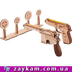 Набор пистолетов 010/21 - деревянный 3D пазл Wood trick (механический деревянный конструктор)