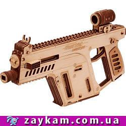 Штурмовая винтовка 00022 - деревянный 3D пазл Wood trick (механический деревянный конструктор)