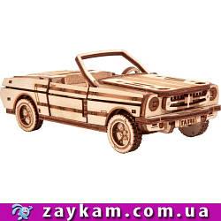 Кабриолет S3 - деревянный 3D пазл Wood trick (механический деревянный конструктор)