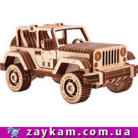 Сафари джип 4×4 S5 - деревянный 3D пазл Wood trick (механический деревянный конструктор)