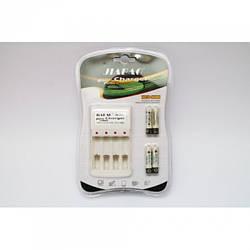 4 шт акумулятори AAA + зарядний пристрій Jiabao JB-212