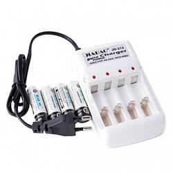 4 шт акумулятори + зарядний пристрій Jiabao JB-212 AA