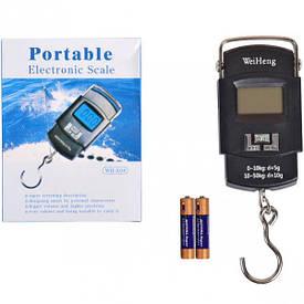 Весы портативные электронные 50 кг (кантер) 10×5,5×2 см                          WH-A08