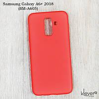 Ультратонкий силиконовый чехол накладка Candy для Samsung Galaxy A6+ (A605) (коралловый)