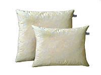 Пухова подушка (наповнювач: пух/перо 10% на 90%) у двох кольорах. Чотири розміри. Білий з блиском.