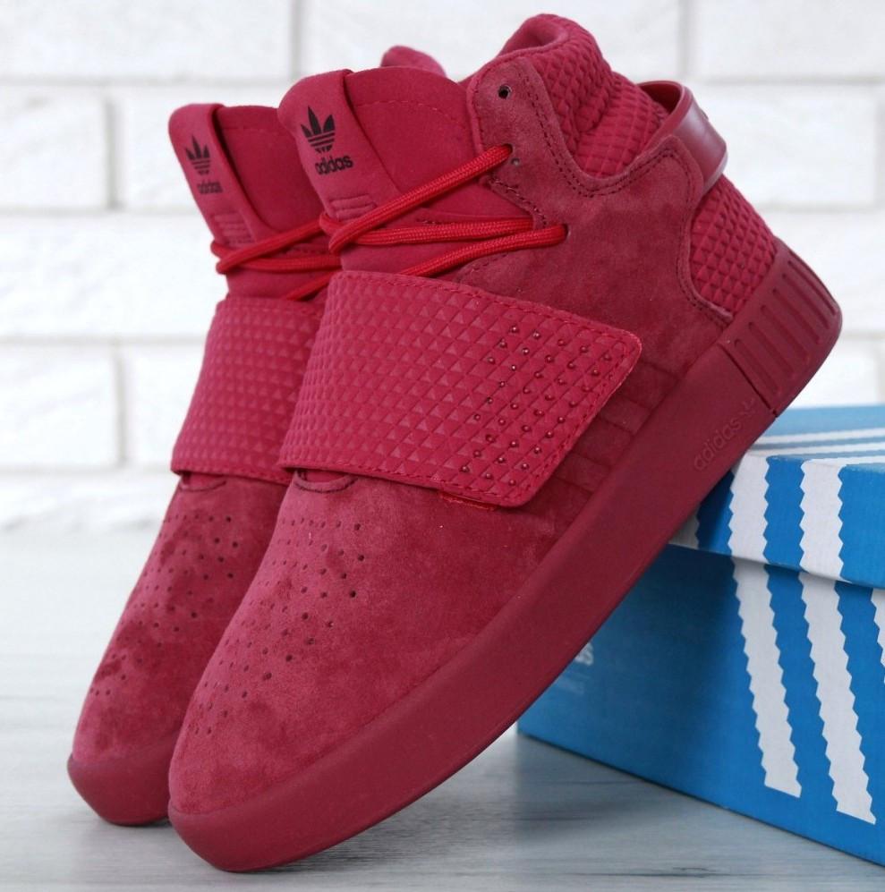 Женские кроссовки Adidas Tubular Invader Strap Red