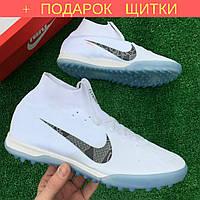Сороконожки Nike Mercurial FLYKNIT c носком/найк меркуриал бампы/многошиповки 1112 + ПОДАРОК