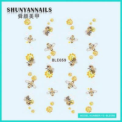 Слайдер дизайн для ногтей Пчелки