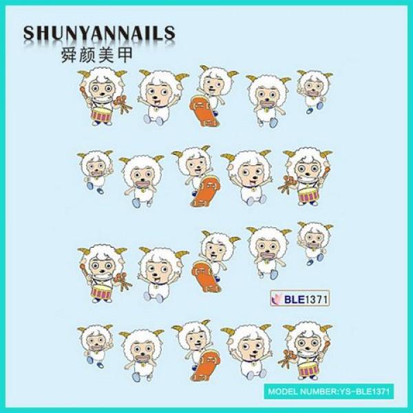 Слайдер дизайн для нігтів Тварини, веселі овечки