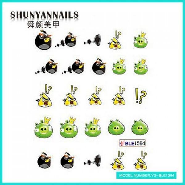 Слайдер дизайн для ногтей Мультяшки, Angry Birds
