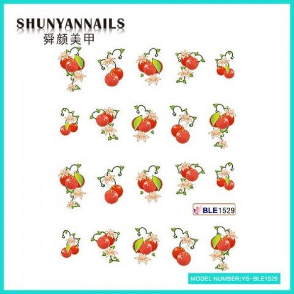 Слайдер дизайн для ногтей Фрукты, ягоды