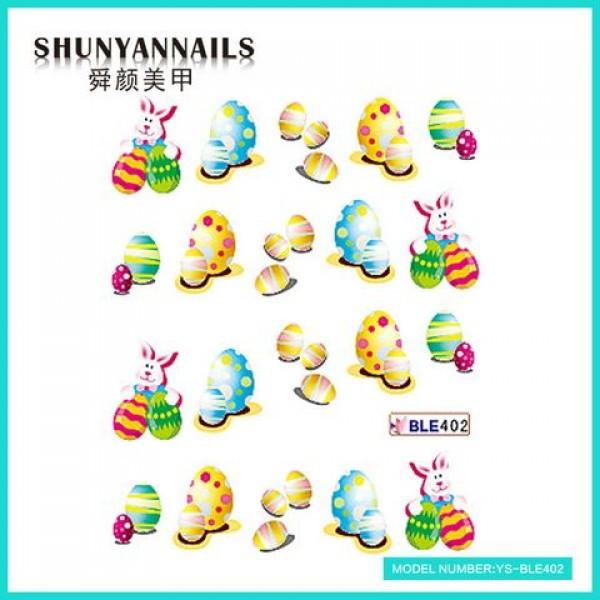 Слайдер дизайн для нігтів Великодні яйця, зайчик