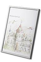 Рамка а2 из алюминия - Серебро матовое 6 мм - со стеклопластиком, фото 1
