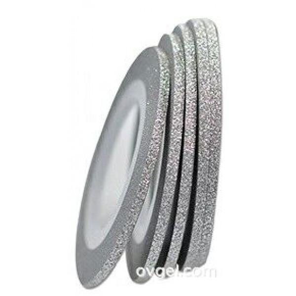 Нить для ногтей Сахарная Серебро