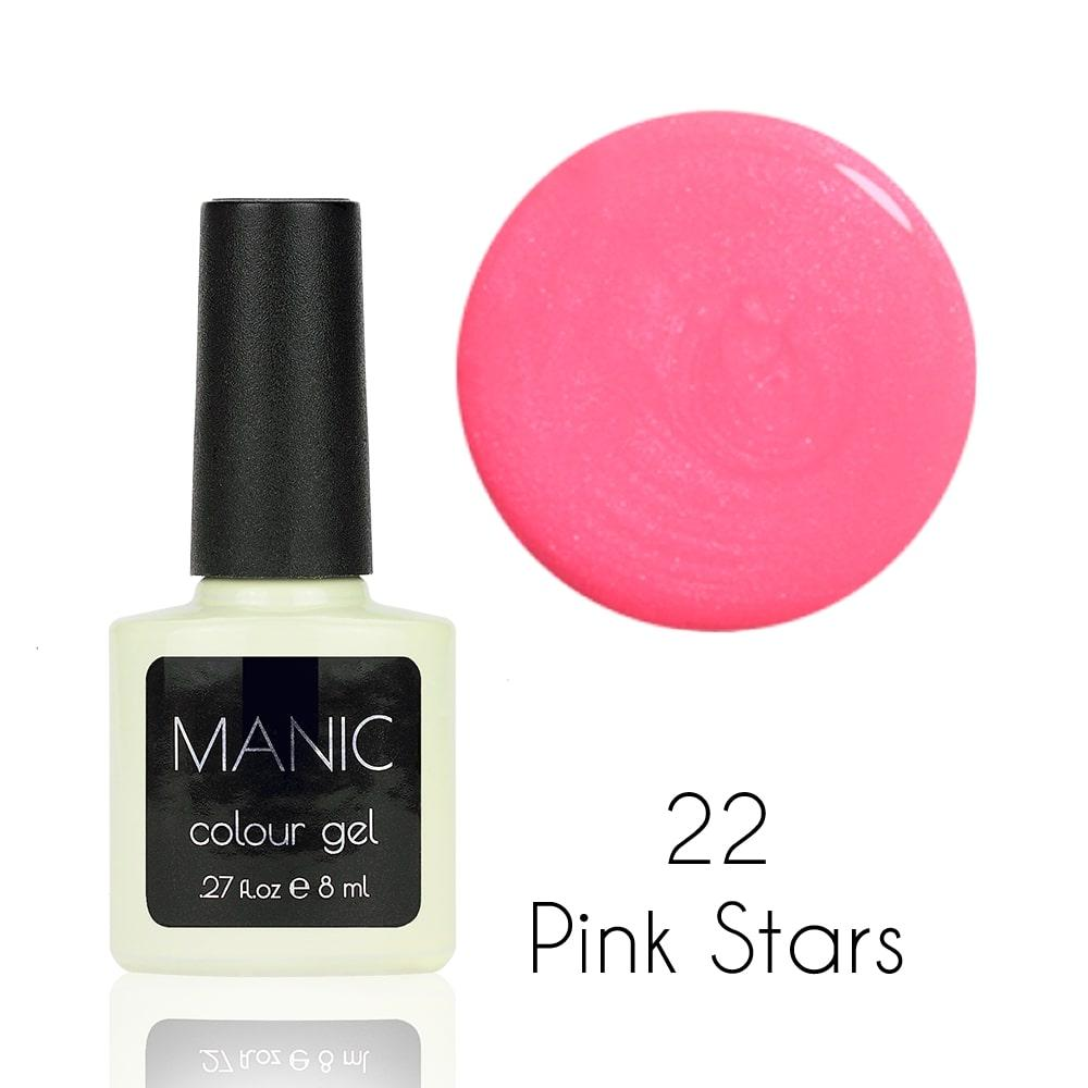 Гель лак MANIC №22 Pink Stars 8 мл