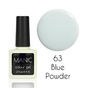 Гель лак MANIC №63 Blue Powder