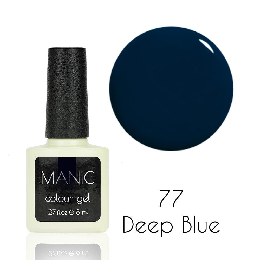 Гель лак MANIC №77 Deep Blue 8 мл
