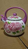 Эмалированный чайник Zauberg 3/L Pink Handle 2,2л