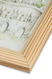 Рамка а2 из дерева - Сосна светлая 2.2 см - со стеклопластиком, фото 2