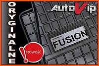 Резиновые коврики FORD FUSION 02-  с логотипом, фото 1