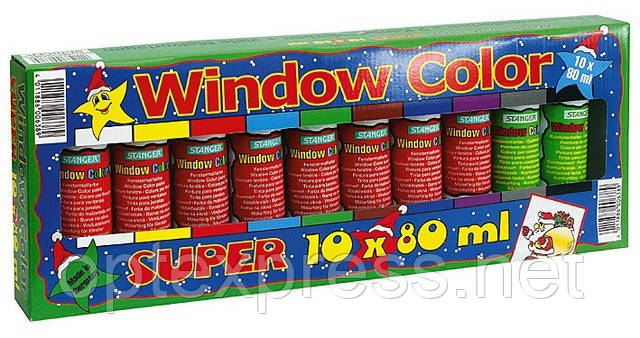 Набор для росписи по стеклу «Супер набор из 10» STANGER 270012