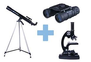 Телескоп, мікроскоп, бінокль