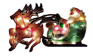 """Новорічна гірлянда """"Дід Мороз і олені"""" 35 LED"""