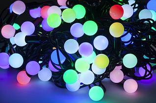 Новогодняя гирлянда 100 LED / 10 м, Разноцветный свет