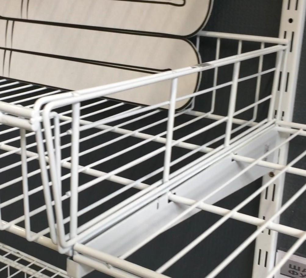 Перегородка до кошика сітчастого шириною 406мм для гардеробної системи зберігання Україна