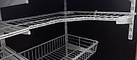Полка сітчаста кутова 606х306мм для гардеробної системи зберігання Україна, фото 1