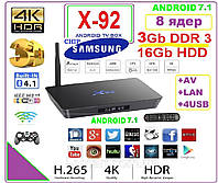 X92  Android TV Box 8 ядер  3gb DDR3 16gb + ANDROID 7 +НАСТРОЙКИ I-SMART, фото 1