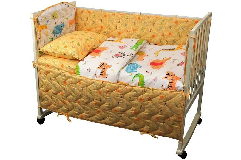 """Детский постельный набор в кроватку 120х60см 4 предмета Джунгли ТМ """"Руно"""""""