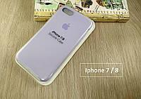 Оригинальный силиконовый чехол для Apple iPhone 8 Soft Touch светло-фиолетовый
