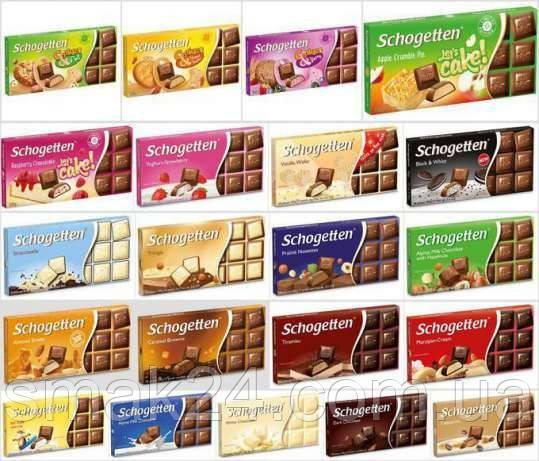 Шоколад Schogetten (Шогеттен) Німеччина 100г