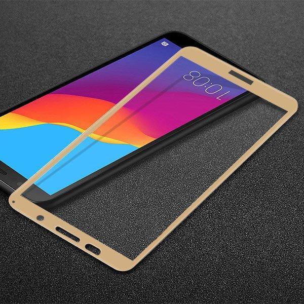 Защитное стекло AVG для Huawei Y5 2018 / Y5 Prime 2018 полноэкранное золотое