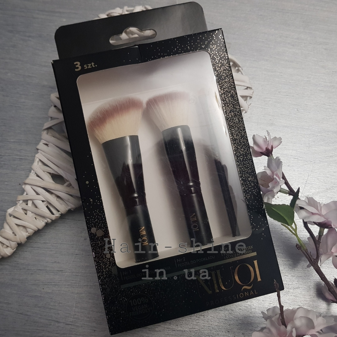 Набор кистей для макияжа NIUQI 3 шт