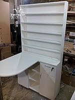 Складной маникюрный стол со стеллажом, Модель А41 белый, фото 1