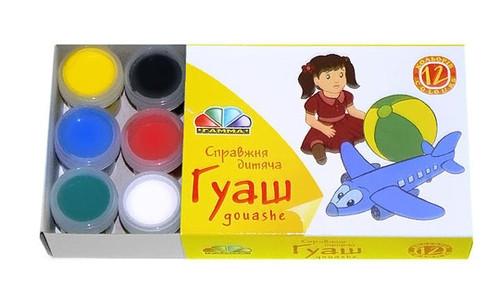 Фарби гуашеві Гамма 12 кольорів