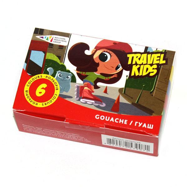 """Фарби гуашеві """"Travel Kids"""" 6 кольорів"""