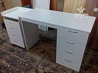 Стол для маникюра стационарный Модель А49 белый, фото 1