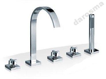 Смеситель для ванны с 5 отверстиями isimax хром