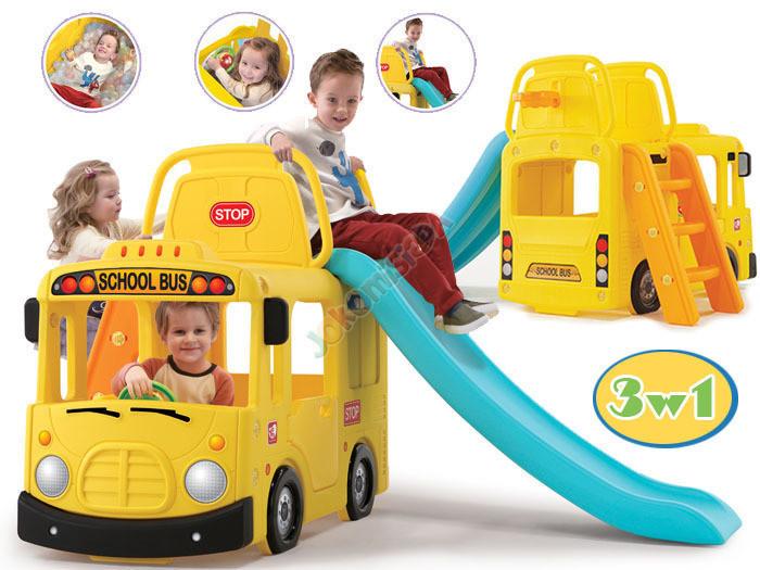 Дитяча гірка шкільній автобус Little tikes