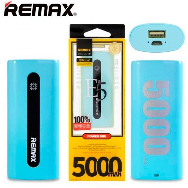 Power Bank Remax E5 5000 mAh голубой
