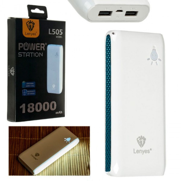 Power Bank Lenyes L505 18000 mAh синий