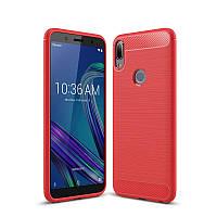 Чехол Carbon для Asus Zenfone Max Pro (M1) / ZB601KL / ZB602KL / x00td бампер Red
