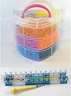 3 этажный набор резинок для плетения браслетов 8000 + станок профессиональный