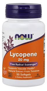 NOW Ликопен Lycopene 20 mg 50 softgels