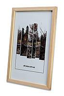 Рамка а1 из дерева - Сосна светлая 1,5 см - со стеклопластиком, фото 1